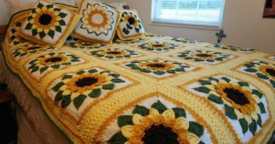 How to make Sunflower Afghan