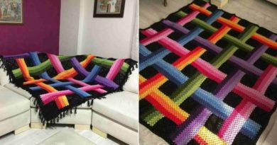 Crochet Woven Ribbon Afghan Pattern