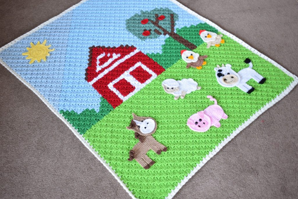 Farm Animals Friends A C2c Farm Graph Baby Blanket Love Quilting Online